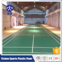 Preiswerter Vinylbodenbelag der hohen Qualität benutzte Innenbadminton PVC-Bodenbinder