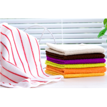 High Quality Vertical Stripes Microfiber Cleaning Cloths