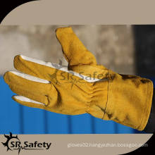 SRSAFETY long yellow cow leather gloves welding