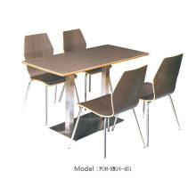 Quick Service Cheap Solid Eco-Friendly Material Wood Restaurant Furniture