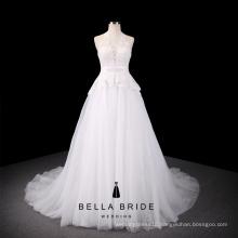 Guangzhou cheap wedding dresses discount bridal gowns A line halter simple bride wedding dress