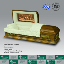 LUXES Abendmahl Stil Holz Schatullen für Beerdigung amerikanischen Schatullen