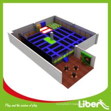 2015 Trampoline d'intérieur pour les sports commerciaux les plus vendus avec une fosse en mousse pour enfants