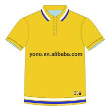 2017 novo design customizável logotipo polo camisa para homens simples