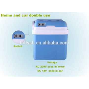 AQ-24L (105) DC 12 V AC 220 V 60 Watt Kühlen und Heißen doppelgebrauch Haus und Auto doppelgebrauch auto kühlschrank (CE zertifikat)