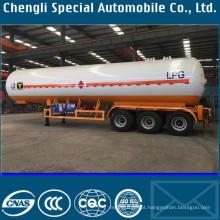 Reboque do transporte da amônia do reboque do gás 58cbm da amônia