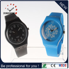 2015 Hot Sale Charm Silicone Strap Glass Mirror Watch (DC-990)