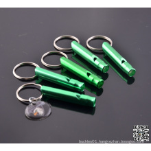 Hiking Survival Aluminum Whistle Key Chain Camping Green