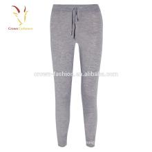 Pantalon de jogging de laine de cachemire à la mode des femmes faites sur commande / pantalons en gros