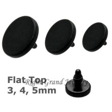 Black Anodized Micro Dermal Anchor Tops Wholesale