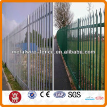 Tube picket metal fences