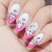 Patrones característicos a prueba de agua diseño de arte tatuaje de uñas papel
