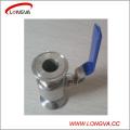 Robinet à boisseau sphérique sanitaire en acier inoxydable 316 de Wenzhou