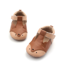 Partihandel Läder Mjuk Sole Animal Baby Casual Shoes