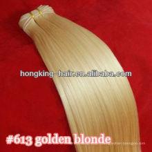 vente en gros pur indien remy vierge trame de cheveux humains couleur 613