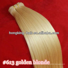 wholesale pure indian remy virgin human hair weft color 613