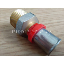 Brass Compress Pipe Fitting (a. 7031)