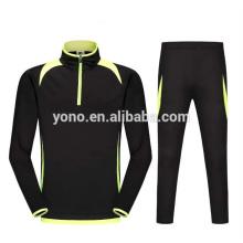 2017 nuevo modelo corto zip entrenamiento de fútbol manga larga diseño en blanco jersey de fútbol