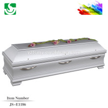 ручка белая Италия sytle гроб кровати с металлом