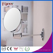 Fyeer Double Side Magnifying Montado en la pared espejo de maquillaje plegable