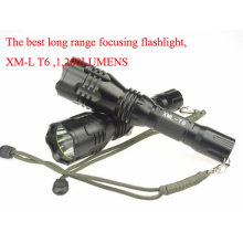 Super Clase Super Largo Alcance Linterna recargable LED