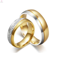 На заказ вольфрама западный стиль алмаз золотые обручальные кольца, мода кристалл кольца ювелирные изделия