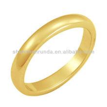 Atacado Moda 2015 Aço Inoxidável IP Anel Anel em Ouro de Shenzhen Runda Jewelery