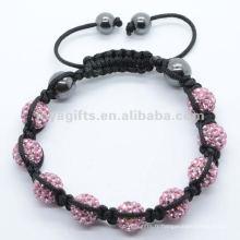 2012 Joya bracelet en cuir avec boule de cristal