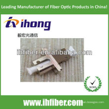 Adaptador híbrido de fibra óptica MU-LC simplex