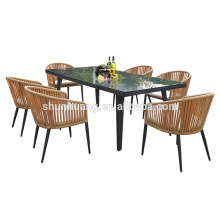 Outdoor rattan furniture wicker rattan dining sets chair and table