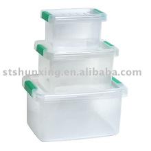 prix attractif un costume en plastique boîte transparente pour la maison de conservation des aliments frais