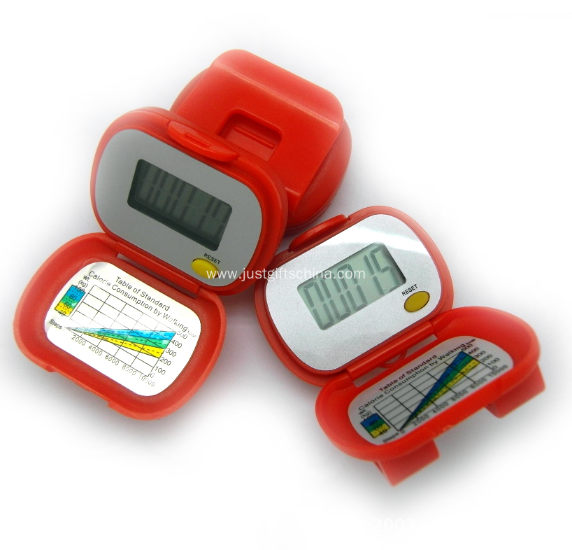 Promotional Branding Red Pedometers