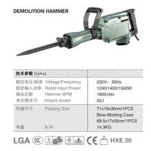 642mm 45J 1500W Martillo de carga de demolición de servicio pesado Martillo de interruptor pequeño eléctrico profesional GW8078