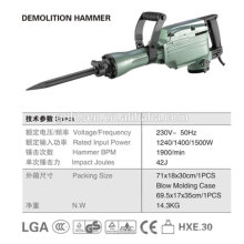 642mm 45J 1500W Heavy-Duty Demolition Jack Hammer Professional Electric Petit Fraise Hammer GW8078