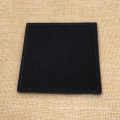 Kundenspezifisches Logo-Schwarzes PU-echtes Leder-Becher-Bar Tischset Coaster