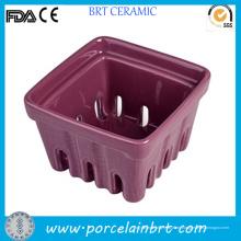 Einzigartige Keramik kleine Frucht Berry Basket