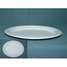 Pasta de caña de azúcar Bagazo Plato de comida de varios tamaños y biodegradable