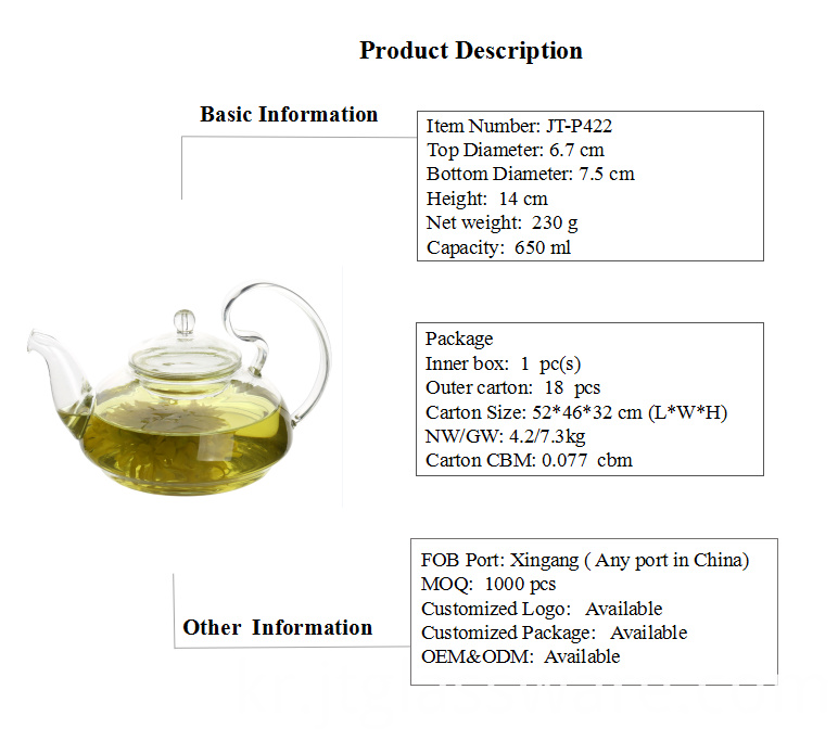 Thermal Glass Teapot