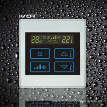 Interruptor táctil del termóstato del acondicionador de aire de 4 tubos en marco plástico (SK-AC2300T-4P-N)