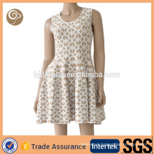 Sleeveless jacquard cashmere dress