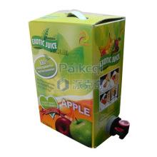 Bolsa de zumo de manzana en caja / babero / bolsa de zumo de fruta