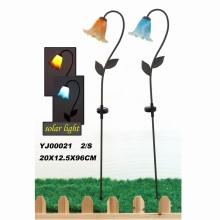 Transparent Resin Flower Garden Stake Craft W. Solarlight