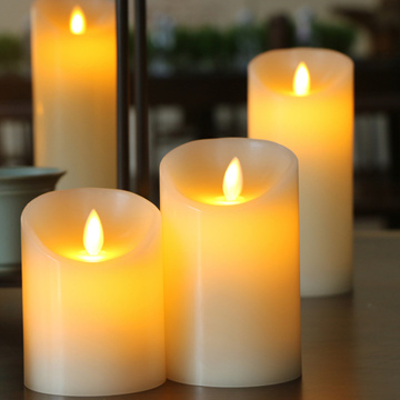 Pillar Batteri Flyttande Flameless Led Candle