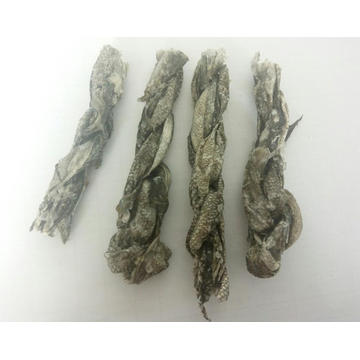 Fish skin twist dry pet food