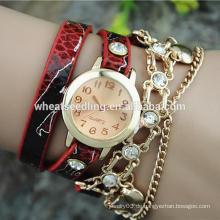 Weibliche attraktive Schlange Haut digitale Frauen fancy Armbanduhr