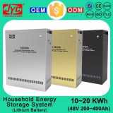 10KWh LiFePO4 Lithium Battery Solar Energy Storage System Cycle Life >2000 Solar Electricity Generating Power System for Home