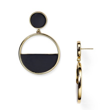 Simple Round Elegant Geometric Earring