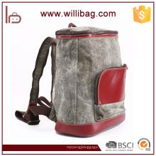Mochila de cuero de la mochila escolar de la lona de la personalidad Mochila de la vendimia