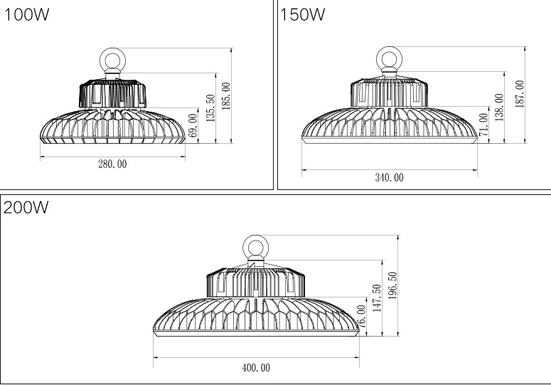 LED High Bay Light 200watt