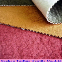 Tela de apoio de veludo de camurça em relevo para têxteis lar